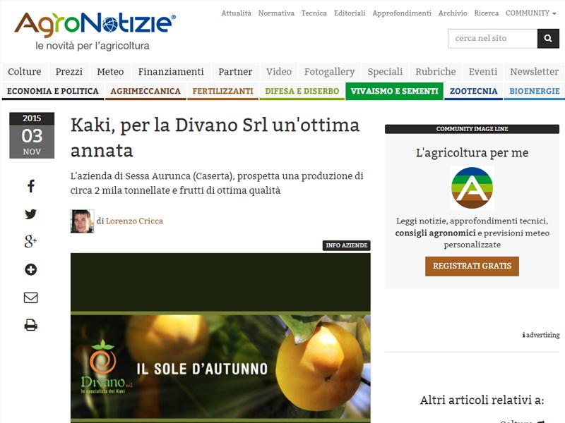 Articolo pubblicato su agronotizie